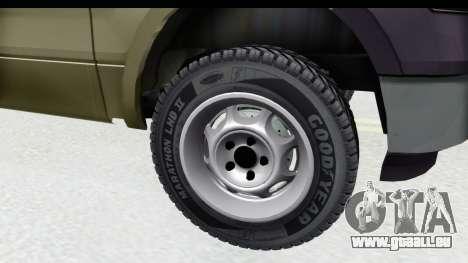 Ford F-150 Stock für GTA San Andreas Rückansicht