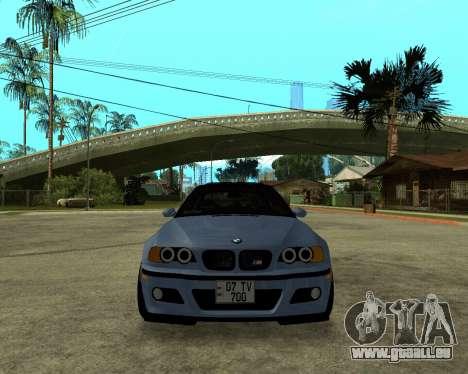 BMW M3 Armenian für GTA San Andreas rechten Ansicht