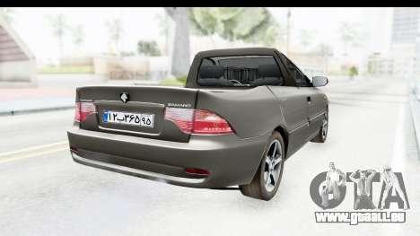 Ikco Samand Pickup v1 für GTA San Andreas zurück linke Ansicht