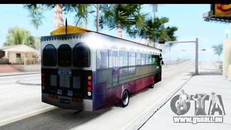 Cas Ligas Terengganu City Bus Updated für GTA San Andreas zurück linke Ansicht