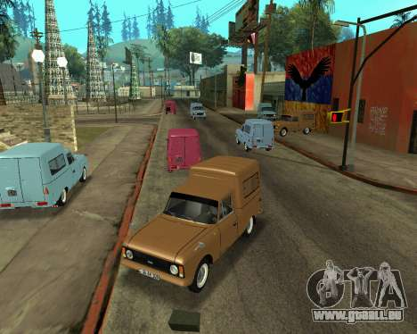 Moskvich 2715 Arménien pour GTA San Andreas vue intérieure