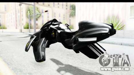 Spectre Hoverbike pour GTA San Andreas sur la vue arrière gauche