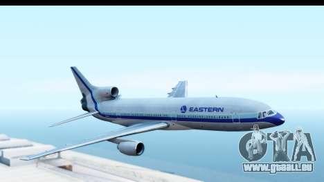 Lockheed L-1011-100 TriStar Eastern Airlines pour GTA San Andreas sur la vue arrière gauche