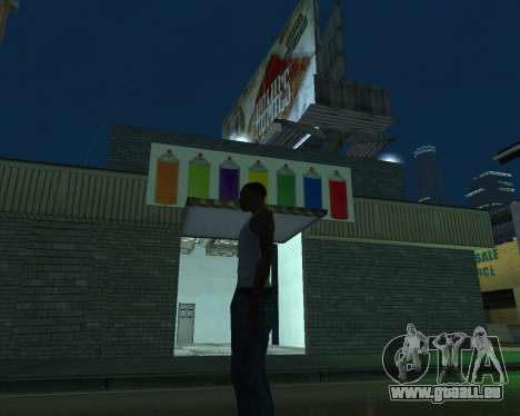 La peinture du garage pour GTA San Andreas troisième écran