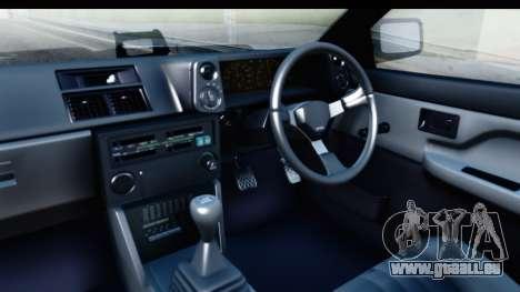 NFS 2015 Toyota AE86 pour GTA San Andreas vue intérieure