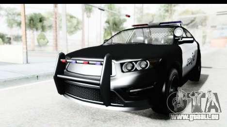 Sri Lanka Police Car v1 für GTA San Andreas zurück linke Ansicht