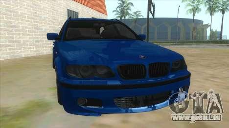 BMW E46 Touring Facelift für GTA San Andreas Rückansicht