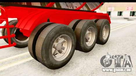 Trailer Fuel pour GTA San Andreas vue arrière