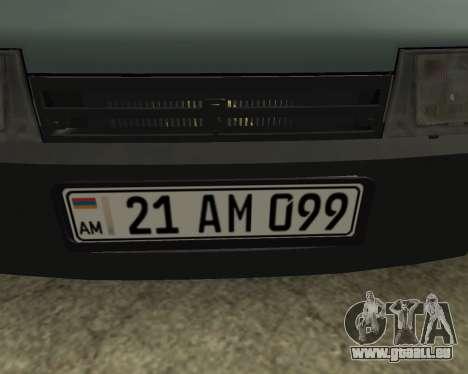 Vaz 21099 ARMNEIAN für GTA San Andreas Innenansicht