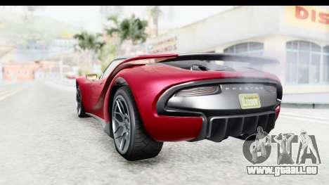 GTA 5 Pfister 811 with Mip Map pour GTA San Andreas vue de droite
