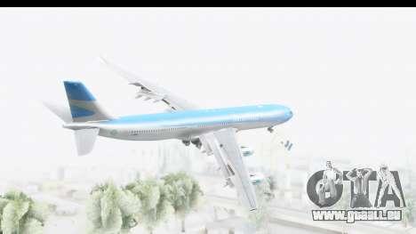 Airbus A340-300 Aerolineas Argentinas für GTA San Andreas rechten Ansicht