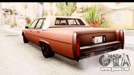 GTA 5 Albany Emperor SA Style pour GTA San Andreas vue de droite