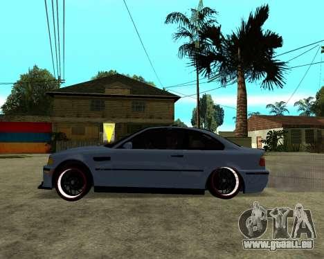 BMW M3 Armenian pour GTA San Andreas vue arrière