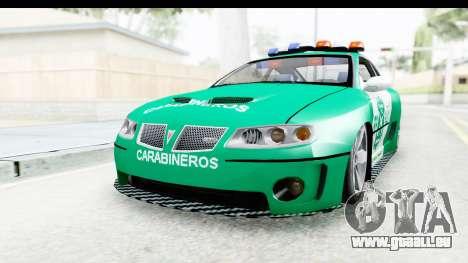 Pontiac GTO 2006 Carabineros De Chile für GTA San Andreas rechten Ansicht