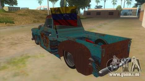 Chevrolet Apache für GTA San Andreas zurück linke Ansicht