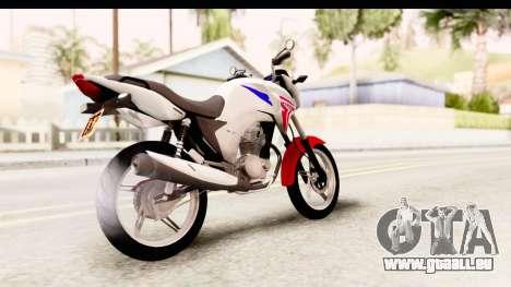 Honda CG150 pour GTA San Andreas sur la vue arrière gauche