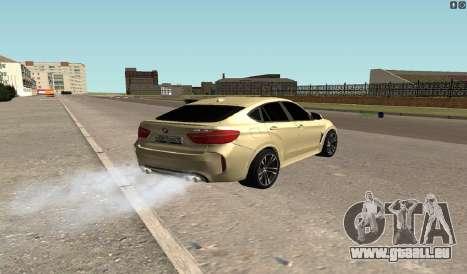 BMW X6M Bulkin pour GTA San Andreas sur la vue arrière gauche