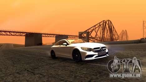Mercedes-Benz S63 Coupe für GTA San Andreas zurück linke Ansicht
