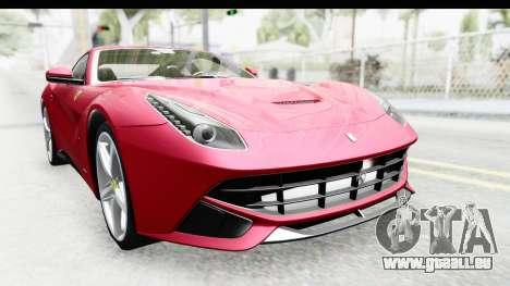 Ferrari F12 Berlinetta 2014 für GTA San Andreas Innenansicht
