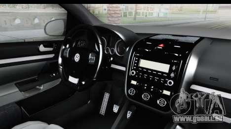 Volkswagen Golf 5 Stock pour GTA San Andreas sur la vue arrière gauche