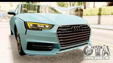 Audi A4 TFSI Quattro 2017 pour GTA San Andreas vue de dessus