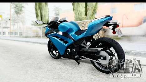 Kawasaki Ninja 300R für GTA San Andreas linke Ansicht