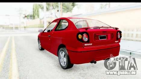 Renault Megane Coupe pour GTA San Andreas laissé vue
