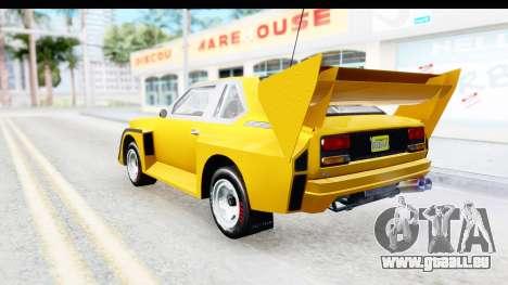 GTA 5 Obey Omnis IVF pour GTA San Andreas laissé vue