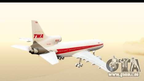Lockheed L-1011-100 TriStar Trans World Airlines pour GTA San Andreas vue de droite
