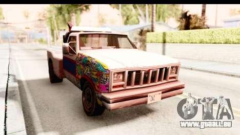 Towtruck Sticker Bomb pour GTA San Andreas vue de droite