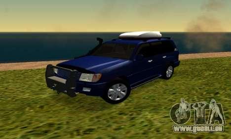 Toyota Land Cruiser 100vx2 pour GTA San Andreas laissé vue