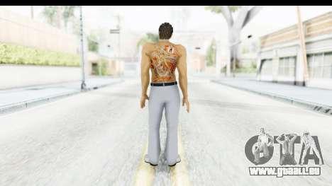 Yakuza 5 Kazuma Kiryu Topless Tatoo für GTA San Andreas dritten Screenshot