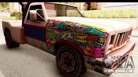 Towtruck Sticker Bomb pour GTA San Andreas vue arrière