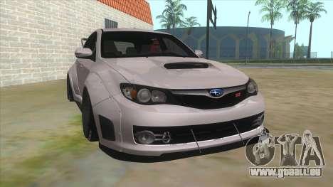 2008 Subaru WRX Widebody L3D pour GTA San Andreas vue arrière