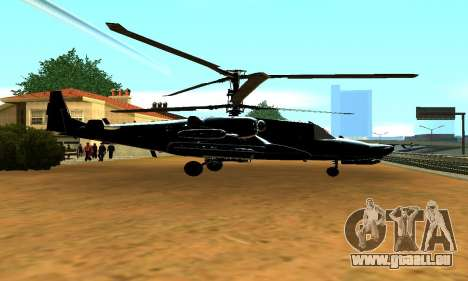 KA-50 Black Shark pour GTA San Andreas laissé vue