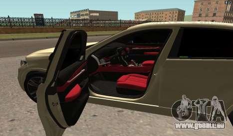 BMW X6M Bulkin pour GTA San Andreas laissé vue