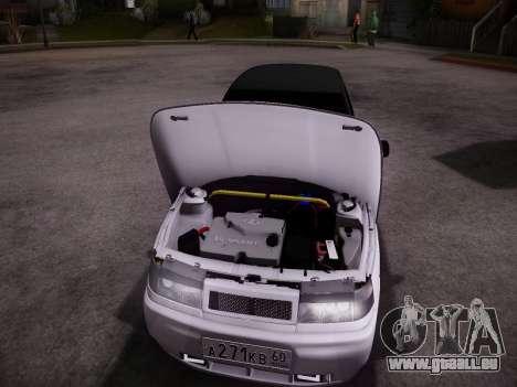 VAZ 2112 GVR qualité pour GTA San Andreas sur la vue arrière gauche