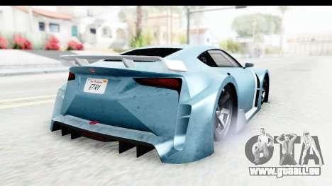 GTA 5 Emperor ETR1 v2 IVF pour GTA San Andreas sur la vue arrière gauche