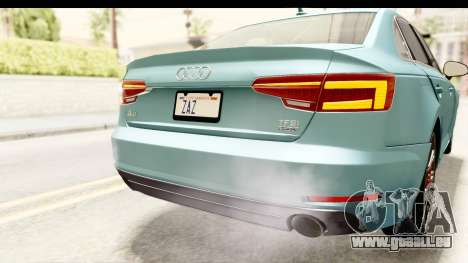 Audi A4 TFSI Quattro 2017 für GTA San Andreas Innen