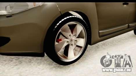 Renault Fluence v2 für GTA San Andreas Rückansicht