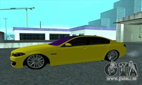 BMW 525 Gold pour GTA San Andreas laissé vue