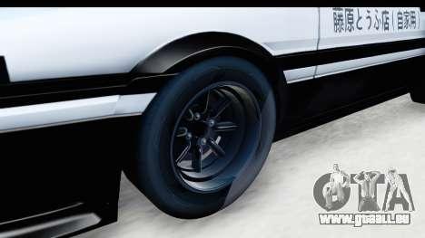 NFS 2015 Toyota AE86 für GTA San Andreas Rückansicht