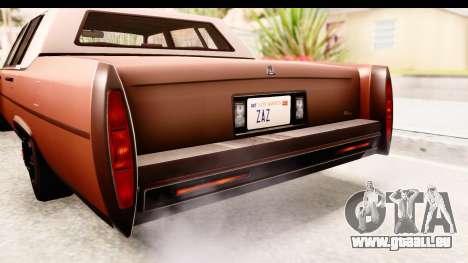 GTA 5 Albany Emperor SA Style für GTA San Andreas Innenansicht