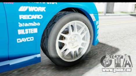 Subaru BRZ Rally pour GTA San Andreas vue arrière