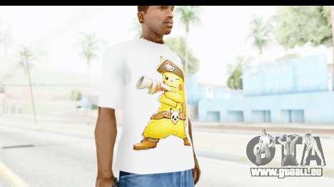 T-Shirt Pokemon Go Pikachu für GTA San Andreas