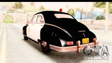 Packard Standart Eight 1948 Touring Sedan LAPD für GTA San Andreas linke Ansicht