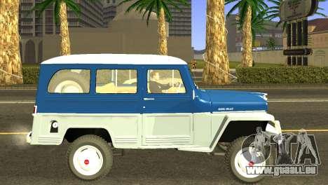 Jeep Station Wagon 1959 pour GTA San Andreas sur la vue arrière gauche