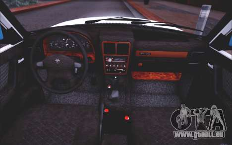GAZ 3110 Abfluss Qualität für GTA San Andreas obere Ansicht