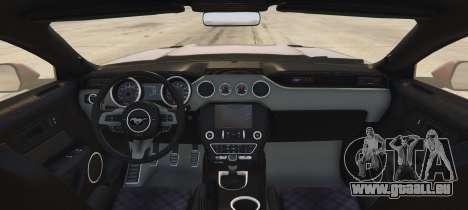 GTA 5 Ford Mustang GT Premium HPE750 Boss hinten links Seitenansicht