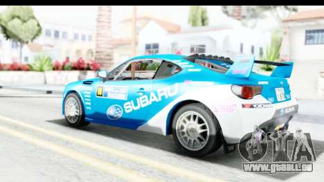 Subaru BRZ Rally pour GTA San Andreas laissé vue